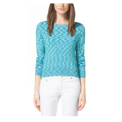 MICHAEL MICHAEL KORS Cropped Space-Dyed Top TURQUOISE